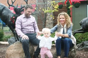 John, Sarah and little Zoe at the park