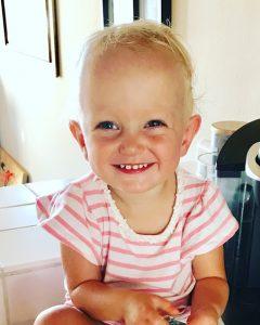 Little Zoe smiling