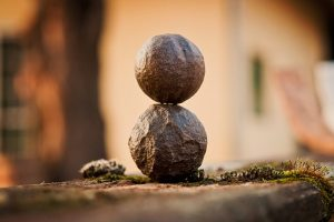 Rocks balancing to symbolize work-life balance