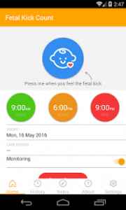 Fetal kick count app
