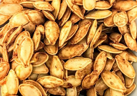 Fast And Easy Olive Oil And Sea Salt Roasted Pumpkin Seeds In 15 Minutes!