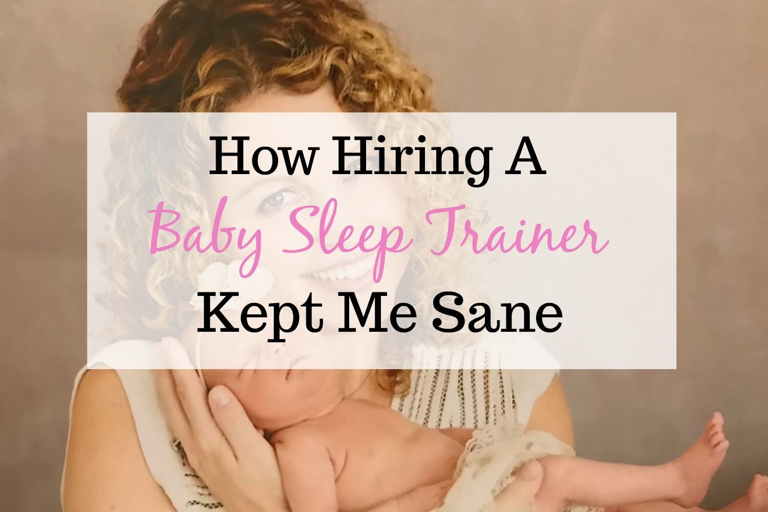 Get Yourself A Baby Sleep Trainer Now You Crazy Lady!