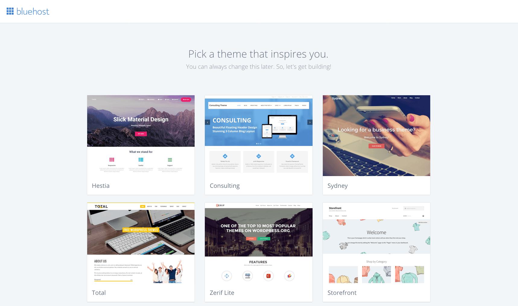 Bluehost WordPress theme