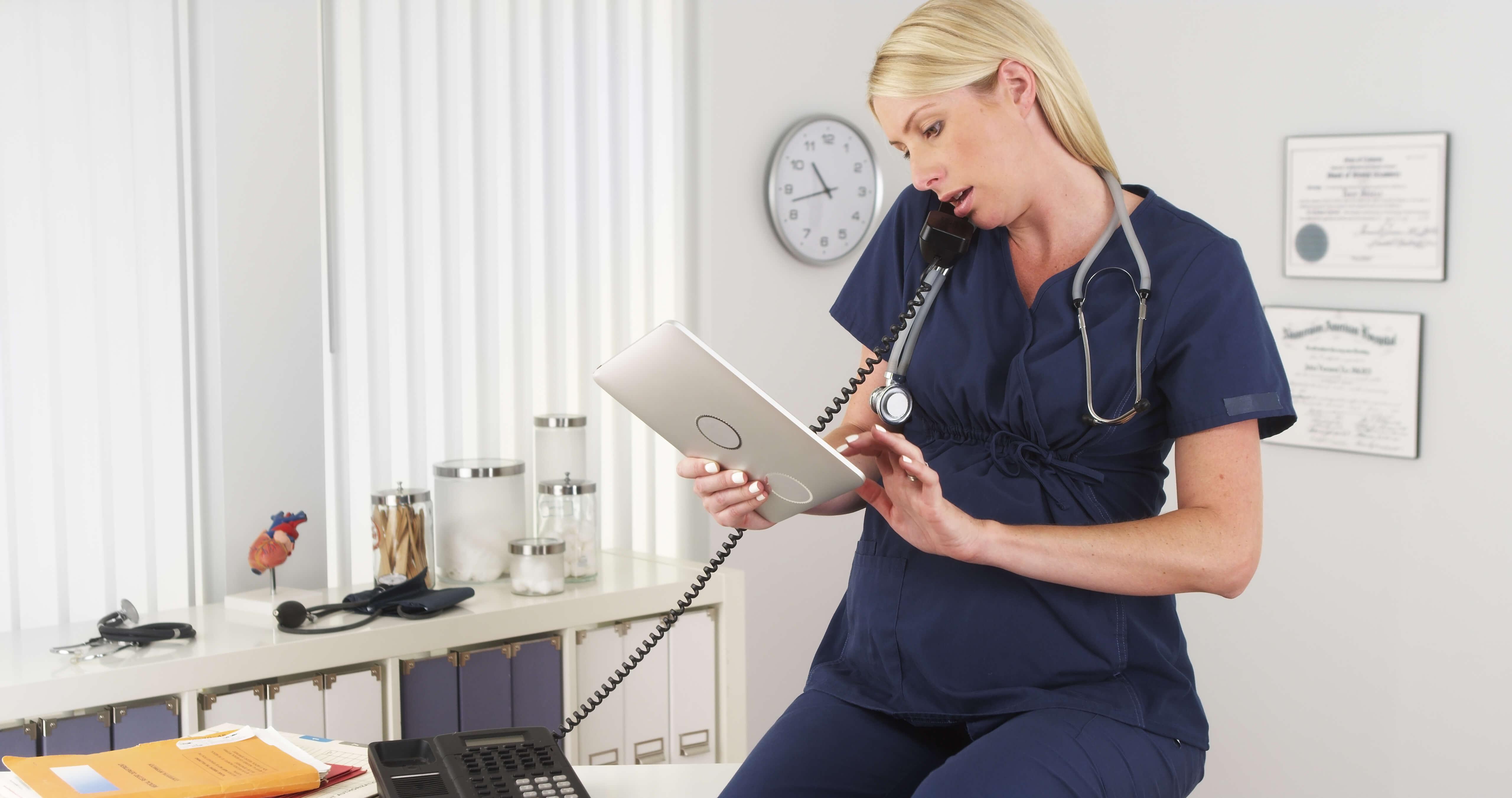 Pregnant Nurse at work