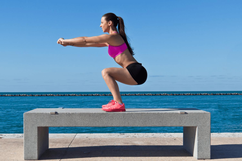 Women doing bodyweight exercises