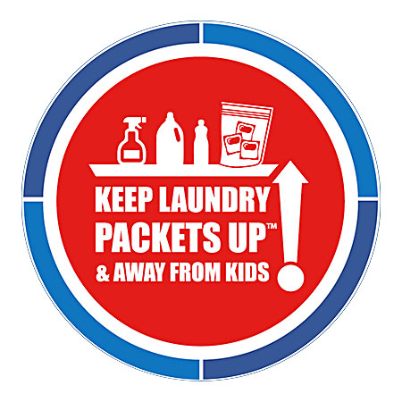 Keep laundry packets up and away from kids!
